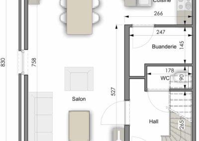 Maison clé sur porte XL Construction