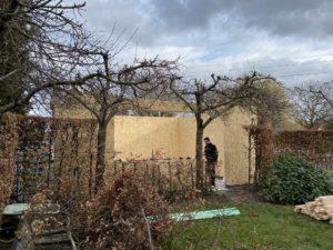 Garage atelier en ossature bois - Autoconstruction avec des blocs de bois Gablok