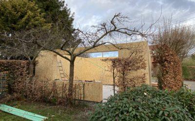 Garage atelier en blocs de bois Gablok